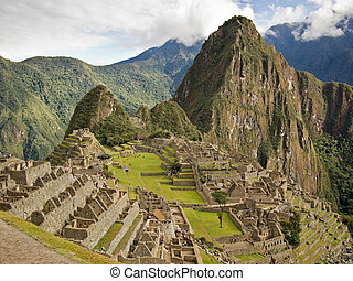 Famous Inca city Machu Picchu - The ruins of the famous Inca...