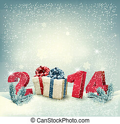 Happy new year 2014! New year design template Vector...
