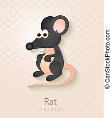 Chinese zodiac set Year of the Rat