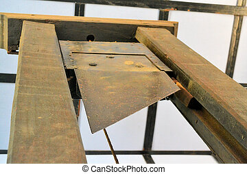 Guillotine for execution - An old Guillotine used for...