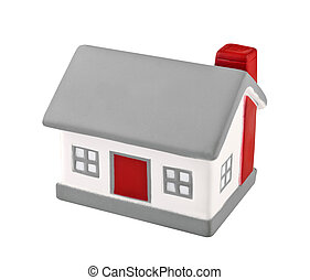 House model plastic - House model toy plastic isolated on...