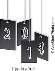 New Year 2014 hangtag illustration - Creative New Year 2014...
