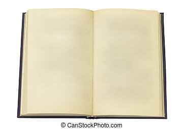 Open old book. Page without the text