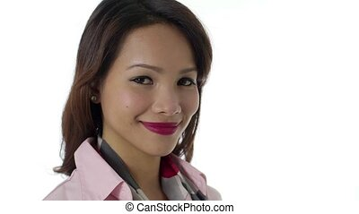 Asian businesswoman doing ok - Young business people, work...