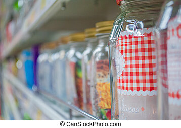 household - jars, dishes and other household items on the...