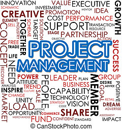 Project management word cloud image with hi-res rendered...