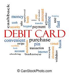 Debit Card Word Cloud Concept