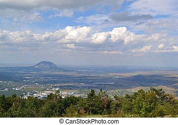 Kislovodsk from height of bird's fl - Kislovodsk from height...