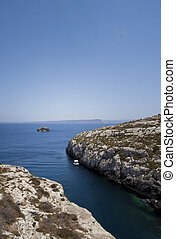 Gozo Malta - Gozo,Maltese coastline with the cliffs,gold...
