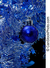 Blue christmas card, a vertical picture