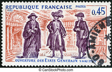 FRANCE - CIRCA 1971: A stamp printed in France shows...