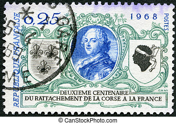 FRANCE - CIRCA 1968: A stamp printed in France shows Louis...