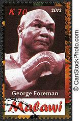 Malawi - 2012: shows George Foreman - Malawi - CIRCA 2012: A...