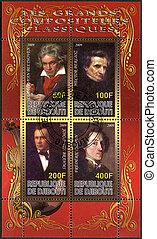 djibouti, -, 2009:, 顯示, Ludwig, 搬運車, 貝多芬,...
