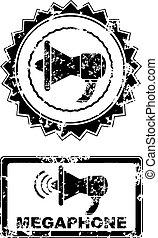 Megaphone stamp