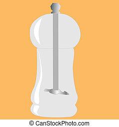 salt and pepper grinder vector illustration