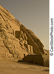 Abu Simbel left outside - Hugh sitting sculpture, left side...