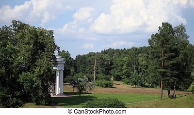 Landscape with a rotunda - HD1080: Summer Landscape with a...