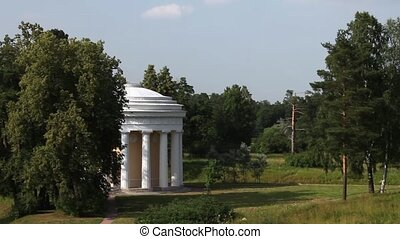 Temple of friendship in Pavlovsk - HD1080: Summer Landscape...