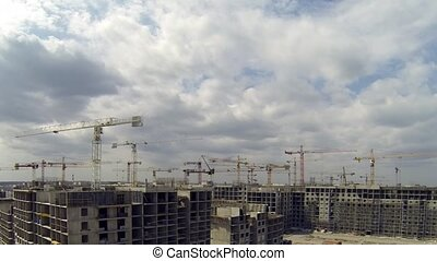 Estate Development - HD1080: big Construction Site Camera in...