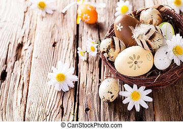 蛋, 木頭, 復活節