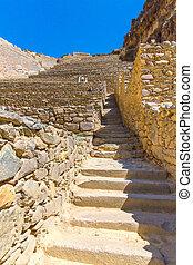 Ollantaytambo, Peru, Inca ruins and archaeological site in...