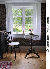 Retro living room - Old Swedish rural living room from...