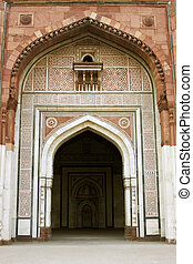 Ornate Mosque - Ornate entrance to the ancient mosque...
