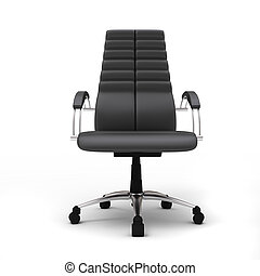 Office chair - One office chair isolated on white background