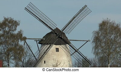 historic windmill closeup