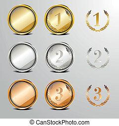 medalla, Conjunto