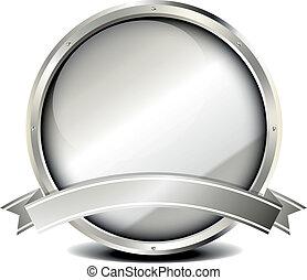 metal frame banner - illustration of a silver metal frame...