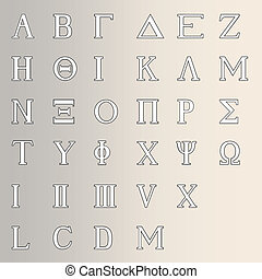 Greek Alphabet - The letters of the Greek alphabet with...