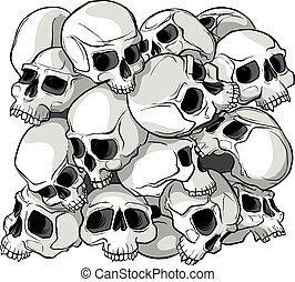 Skull Pattern - Illustrated Skull pattern block Can be...