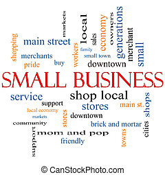 Small Business Word Cloud Concept with great terms such as...