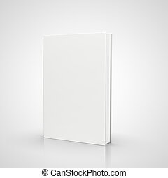 book - front view of blank book  on white background
