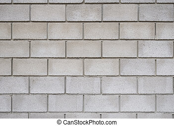 brick wall, square format - Square white brick wall...