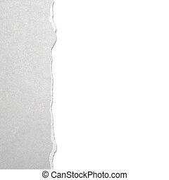 Torn paper with white background