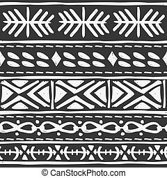 black tribal motif