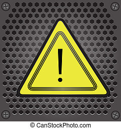 warning sign - colorful illustration with warning sign for...