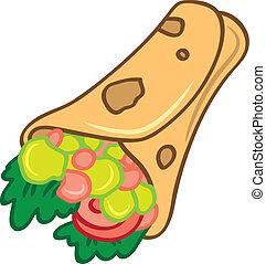 cartoon burrito