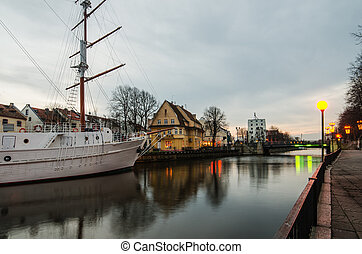 Dane river in Klaipeda, Lithuania - Klaipeda Lithuania at...