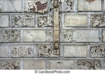 White brick wall closeup photo