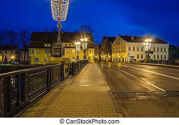 Stock Bridge in Klaipeda, Lithuania - Old Town in Klaipeda...