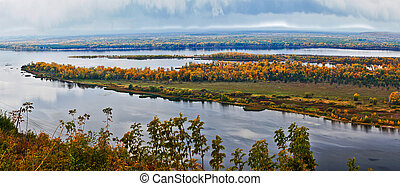 View from the mountains in  Volga.