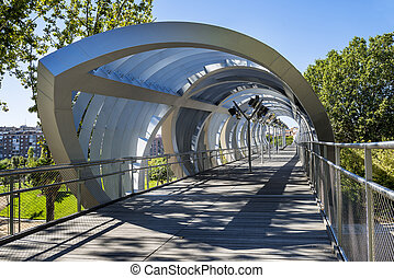 Arganzuela Bridge in Madrid city, Spain, Europe