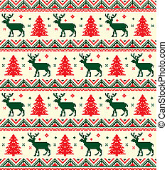 chistmas pixel pattern