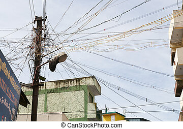 Messy electric wires