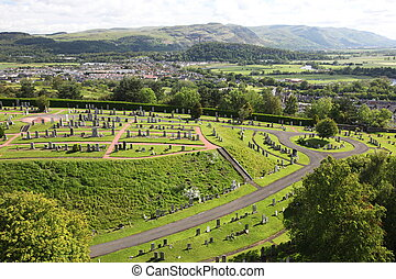 Stirling city in Stirlingshire, Scotland, UK