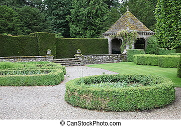 classic formal english garden , UK
